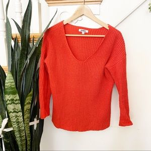BB DAKOTA coral/red scoop neck sweater size S